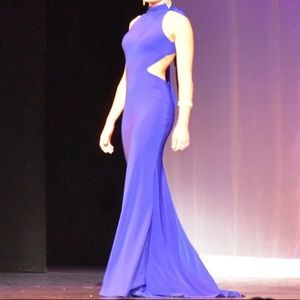 Ieena Mac Duggal Royal Blue pageant / prom gown 4